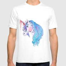 Cabin In the Woods Unicorn White MEDIUM Mens Fitted Tee