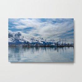 Seward Boat Harbor, Alaska Metal Print