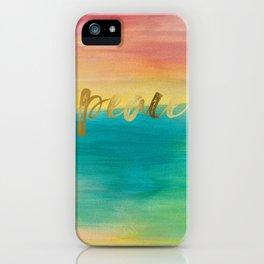 Peace, Ocean Sunset 3 iPhone Case
