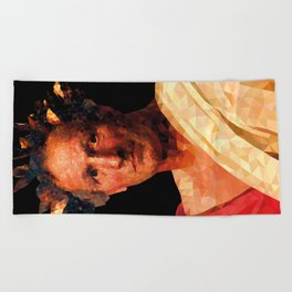Historical Figures - Julius Caesar Beach Towel