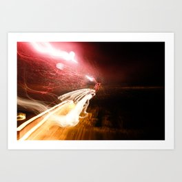 Shooting Lights Art Print