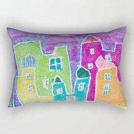 Watercolour Morocco Market at Sunset Rectangular Pillow