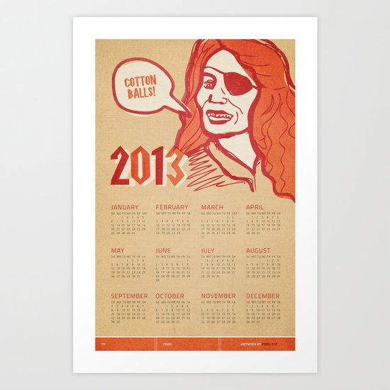 Cotton Balls 2013 Calendar  Art Print