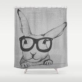 Book Bun Shower Curtain