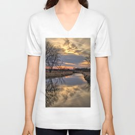 Easter River Unisex V-Neck