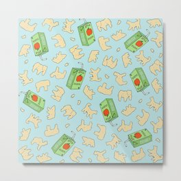 Animal Crackers and Apple Juice Metal Print