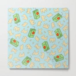 Animal Crackers and Apple Juice Metal Print