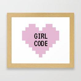 GIRL CODE Framed Art Print