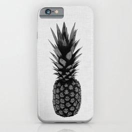 Pineapple Black & White iPhone Case