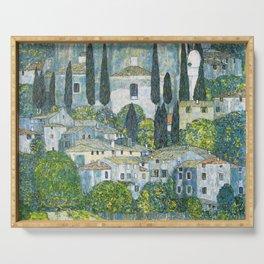 Gustav Klimt - Church in Cassone Serving Tray