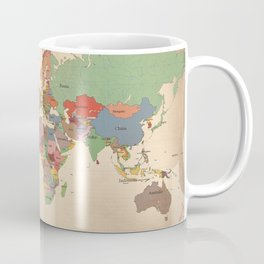Mercator Map Modern Coffee Mug