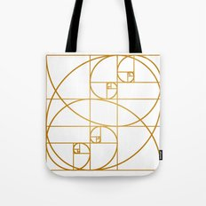 Golden Waves Tote Bag