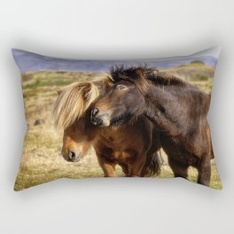 Icelandic Horses Rectangular Pillow