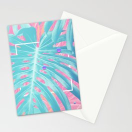 Monstera Gradient Stationery Cards