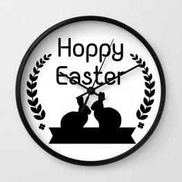 Hoppy Easter Bunny Funny Kids Women Men Wall Clock
