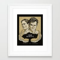 true detective Framed Art Prints featuring True Detective by David Fung