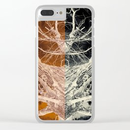 Bleached Bones of the Symmetrical Tree Clear iPhone Case