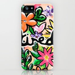 Floral Tired iPhone Case