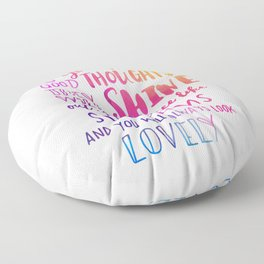 Good thoughts - colorful lettering Floor Pillow