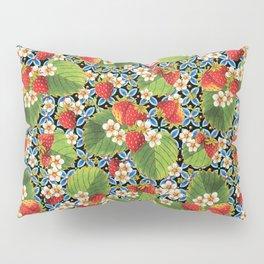 Strawberry Heraldic Pillow Sham