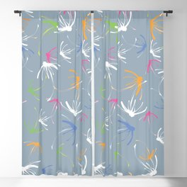 Summer time Swirl Blackout Curtain