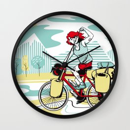 Cycling Girl Wall Clock