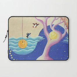 Penguin Lovers and Their Tree Home of Love Laptop Sleeve