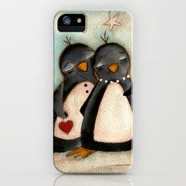 Penguin love -  iPhone Case