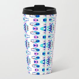 Mountain Ikat in Pink and Blue Travel Mug