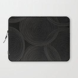 Black spiraled coils Laptop Sleeve