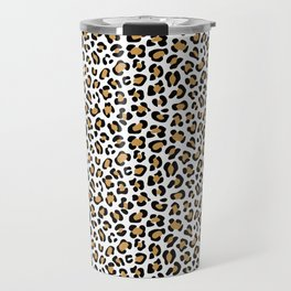 Leopard Print - Bg White Travel Mug