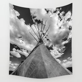 Black and White Teepee Wall Tapestry