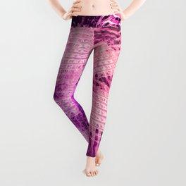 Glowing in Vivid Violet Magenta Leggings