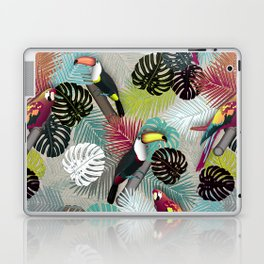 Tropical Birds (Color 2 - Bold) Laptop & iPad Skin