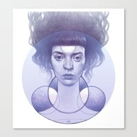 smoke Canvas Prints featuring smoke by A.m. Harlow