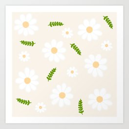 flower patterns Art Print