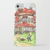 gnome iPhone & iPod Cases featuring Gnome Home by Georgia Dunn