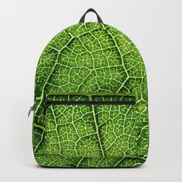Macro Green leaf Backpack