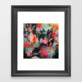 Panda Peek Framed Art Print