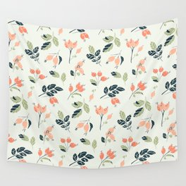 Viburnum Botanical pattern Wall Tapestry