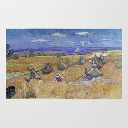Vincent van Gogh - Wheat Fields with Reaper, Auvers Rug