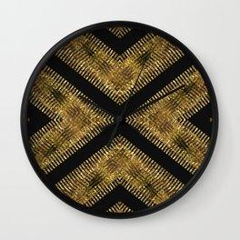 Black Gold | Tribal Geometric Wall Clock
