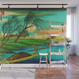 Seba Ohta River Japan Ukiyo e Art Wall Mural