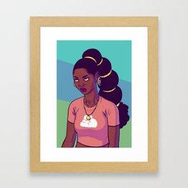 (eye roll emoji) Framed Art Print