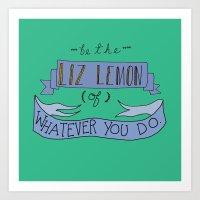 jenny liz rome Art Prints featuring Liz Lemon by Illustrated by Jenny