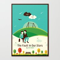 fault in our stars Canvas Prints featuring The Fault In Our Stars by Risa Rodil