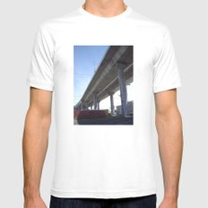 under the bridge White MEDIUM Mens Fitted Tee