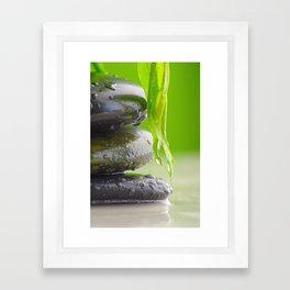 Wellness Stones Framed Art Print