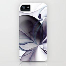 Easiness, Abstract Modern Fractal Art iPhone Case