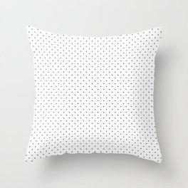 Minimal Black Polka Dots Throw Pillow